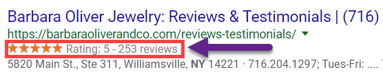 Google Review Stars